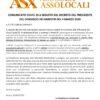 Comunicato ufficiale ASX covid19